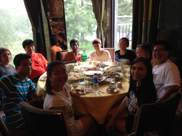 Last dinner in China!
